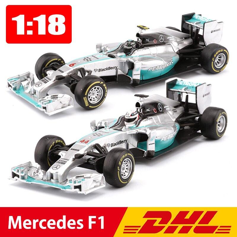 Bburago 1:18 voiture alliage formule 1 voiture de course modèle Hamilton 44 Rosberg 6 voitures de sport jouets enfants garçon cadeau