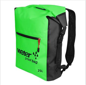 25L Portable Sport Waterproof Dry Bag Sack Swim Storage Rafting Boating Kayaking Canoeing Camping Travel Kits Drift Floating Bag - Green