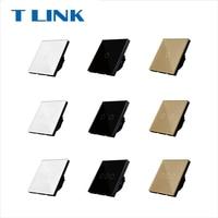 TLINK EU Standard 1 2 3 Gang 1 Way Touch Switch Button Wall Light Glass Panel