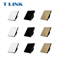 TLINK EU Standard 1 2 3 Gang 1 Way Touch Switch Button Wall Light Glass Panel