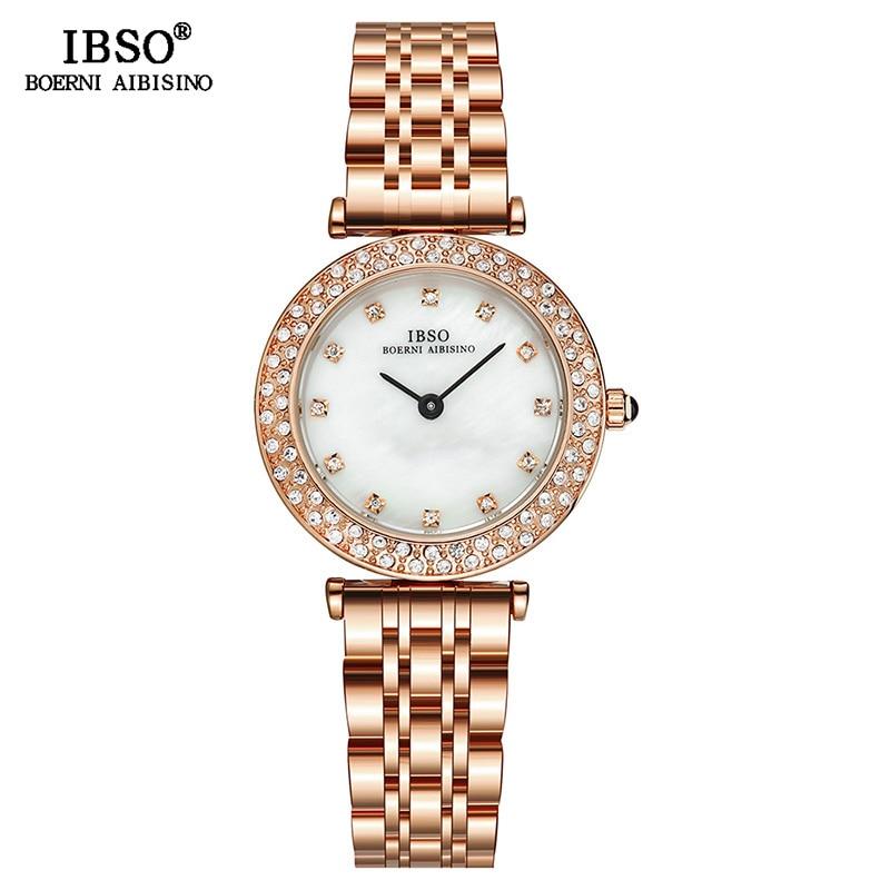 6d7ff8b57189 IBSO oro rosa pulsera Relojes de la marca de lujo de las mujeres Reloj de  cuarzo Reloj de Mujer 2019 nuevo relojes de moda para las mujeres  2206