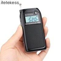 Retekess PR12 Pocket Radio FM / AM Digital Tuning Radio Receiver MP3 Music Player with Rechargeable Battery