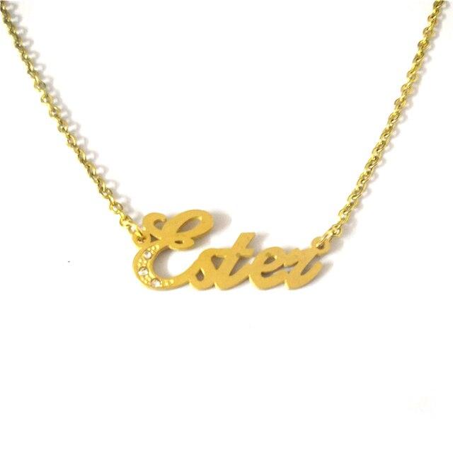 c008a5a63 FairLadyHood Ester Custom Personalized Name Pendants Necklace Women Men  Choker Friendship Gift Customized Family Names Necklaces