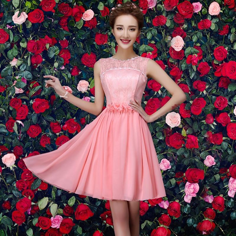 Perfecto Vestidos De Encaje De La Dama De Honor Cortos Colección de ...