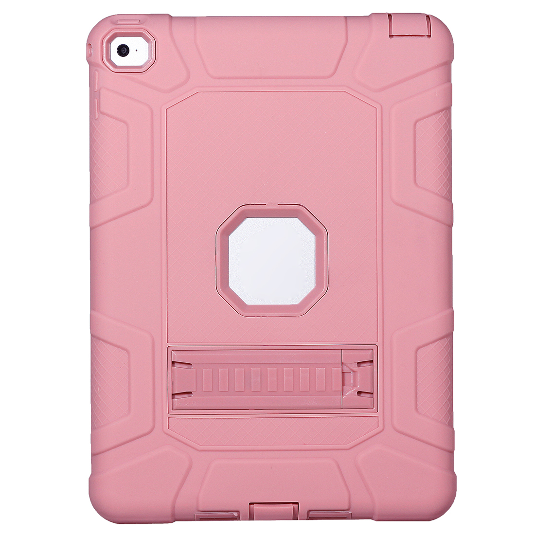 Shockproof Heavy Duty Rubber Hard Stand Case Cover For iPad Air2/iPad 6 Color: Rose Gold+Rose Gold ...