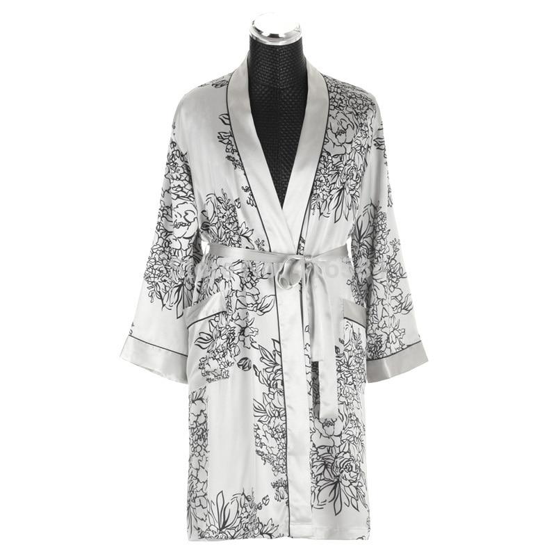 Mens Silk Kimono Robe Satin Dressing Gown Men\'s Bathrobe Men ...