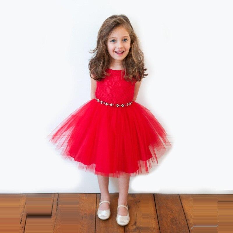 Chirstmas Kids Baby Girl Dress Princess Clothing Infant Dress Bow
