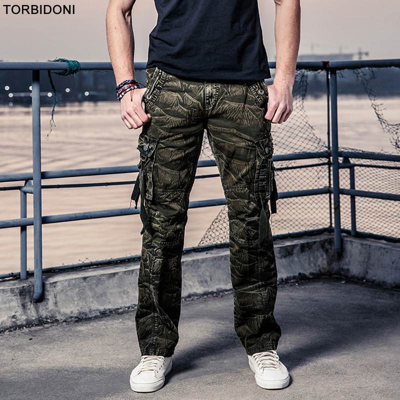 Size 29-40 Mens Cargo Pants Casual Men Camouflage Long Trousers Multi Pockets Work Pants Overall Male Combat Large Pantalones