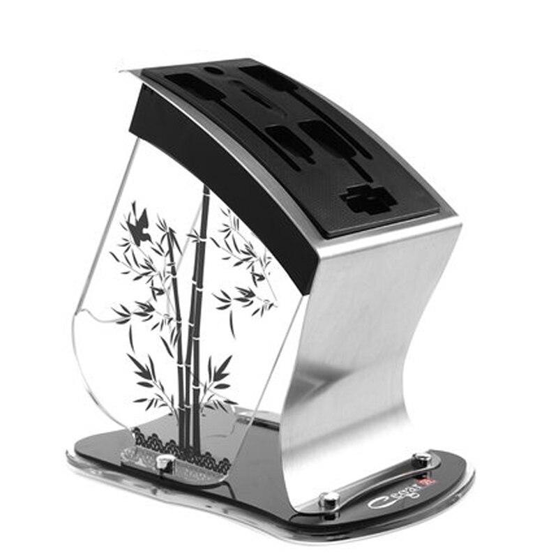 แฟชั่นพลาสติกมีดบล็อกคริลิคมัลติฟังก์ชั่ผู้ถือมีดผู้ถือเครื่องมือสแตนเลสมีดยืนอุปกรณ์ครัว-ใน บล็อกและกระเป๋าพกพา จาก บ้านและสวน บน   1
