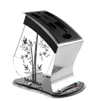 Fashion Plastic Knife Block Acrylic Multifunctional Knife Holder Tool Holder Stainless Steel Knife Stand Kitchen Accessories