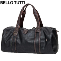 BELLO TUTTI Men Vintage Retro Leather Travel Bags Hand Luggage Bag Fashionable Large Capacity Duffle Bags