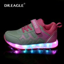 Boys Girls usb LED children shoes with Light Up Dance Causal chaussures led kids luminous sneakers