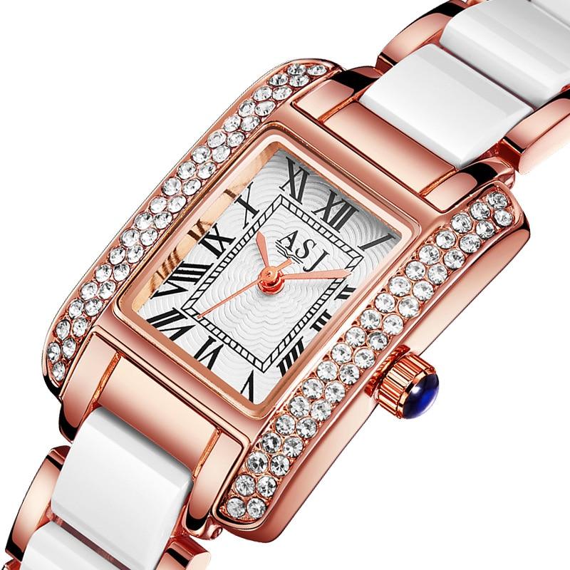 Ladies Watch ASJ Top Brand New Fashion Women Analog Quartz Watch Female Ceramic Wrist Watches Women's Clock Relojes Mujer
