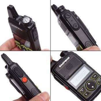 2pcs baofeng bf-t1 mini kids walkie talkie bf t1 cb two way radio uhf long range flashlight handheld transceiver