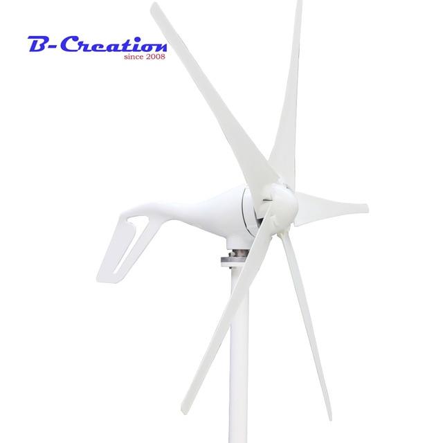 купить Wind turbine generator 400W , horizontal wind generator 12V/24V windmill, come with hybrid controller+400w wind controller.