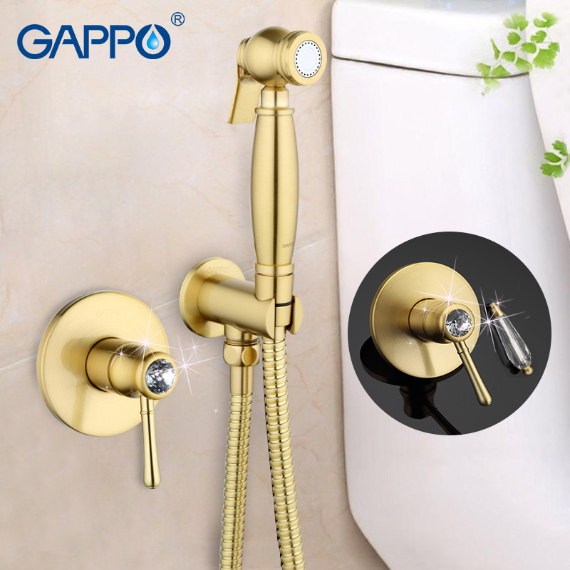 Gappo Crystal Bathroom bidet faucet muslim bidet shower toilet sprayer restroom mixer tap toilet washer tap mixer GA7297/7297-4 gappo classic chrome bathroom shower faucet bath faucet mixer tap with hand shower head set wall mounted g3260