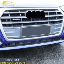 Gelinsi для Audi Q5 2018 противомоскитная сетка автомобиля насекомых противомоскитная сетка Передняя Решетка Вставка Сетка авто