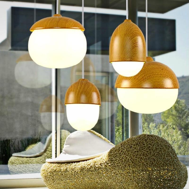 Modern Copper Ring Led Pendant Lighting 10758 Shipping: Free Shipping Nordic Modern Minimalist Warm Nuts Glass