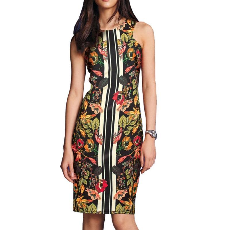 Vintage 50s Dresses Shoulder Floral Print 2016 Elegant Cocktail Party Sexy Bandage Bodycon Dress C1042 - Comerry Shop store