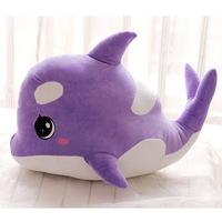 Stuffed Toy Large 65cm Cartoon Whale Plush Toy Doll Soft Throw Pillow Christmas Gift W1865