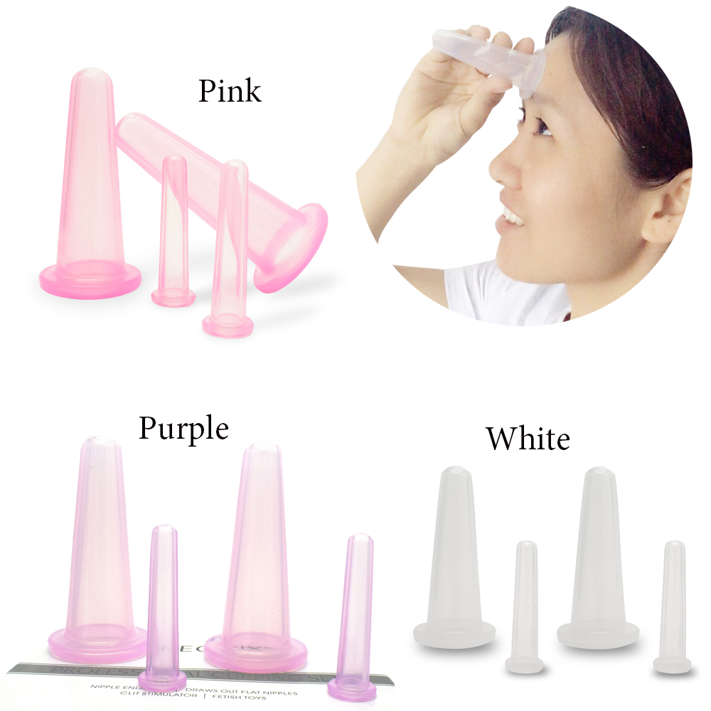 Cupping Treatment: 4PCS/Set Facial Massage Cupping Cup Vacuum Cellulite