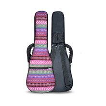 Neue Professionelle 21 26 zoll tenor sopran ukulele tasche gepolsterte rucksack abdeckung weichen bunten fall schultergurte tasche kind geschenk