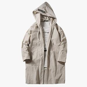 cb30fdf22699 Trench Coat Men Cardigan Long Hood Style Clothing