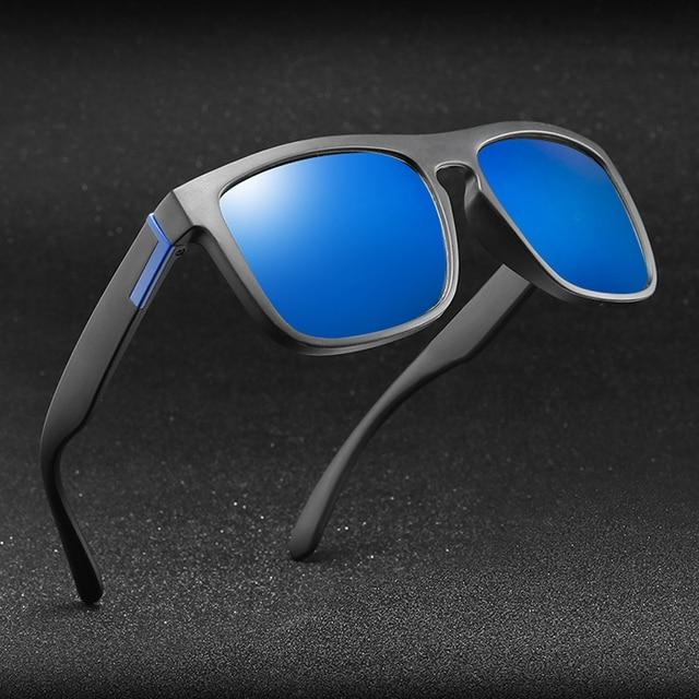 Men Polarized TR90 Sunglasses Vintage Anti-UV Driving Driver Black Goggles Eyewear Rectangle Shades Men Oculos masculino Male 2