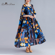 цена на BelineRosa European Fashion Boho Dress 2019 Summer Style Short Sleeve Large Size Dress Fit XL,XXL,3XL,4XL,5XL TYW00979