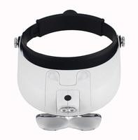 MG81001 G 1 0X 3 5X Illuminated Helmet Head Magnifier Headband Surgical Dental Loupes With 2LED