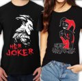 Her Joker and His Harley Couples Unisex T-Shirt For Him For Her