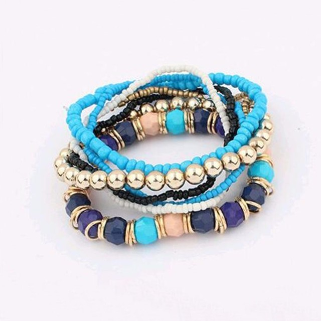 KISSWIFE 2016 Bohemian Summer Jewelry MutiLayer Beads Bracelets & Bangles for Wo