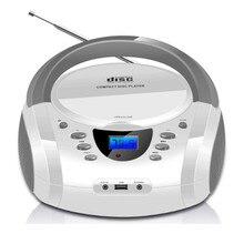 2016 Bluetooth CD Boombox Portable USB Reproductor de CD Boombox Altavoz Subwoofer Estéreo FM Radio AUX Jack de Auriculares Estéreo Portátil