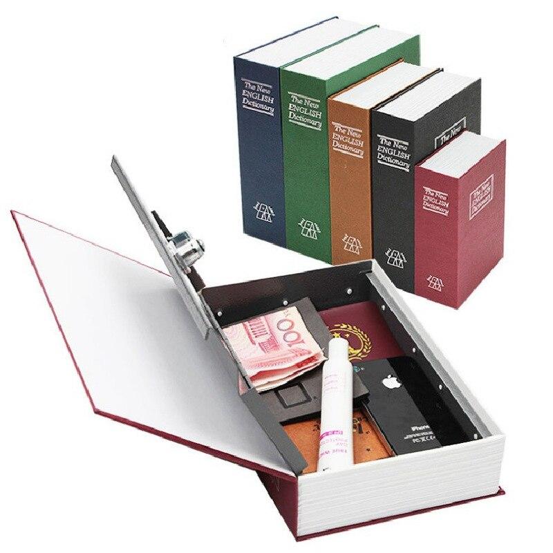 SaiDeKe Kleine Metall Simulation bücher sicher sparschwein schließfach mit schlüssel Anmeldeinformationen wertsachen aufbewahrungsbox Private spardosen