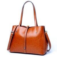 Echt Kuh Leder Damen Handtaschen Frauen Echte Lederne beutel Tote Messenger Bags Hochwertigen Designer Luxus Marke Crossbody Tasche