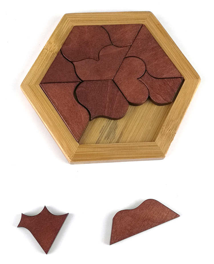 Classic 11 Heart shaped Puzzles Wood Geometric Abnormity Shape Puzzle Wooden Tangram Jigsaw Board Kids Children Educational Toy in Puzzles from Toys Hobbies