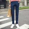 Aliexpress китай дешевые оптовые 9 видов цветов 2016new весна лето стрейч тонкий тонкий срез молодых мужчин мода повседневная брюки
