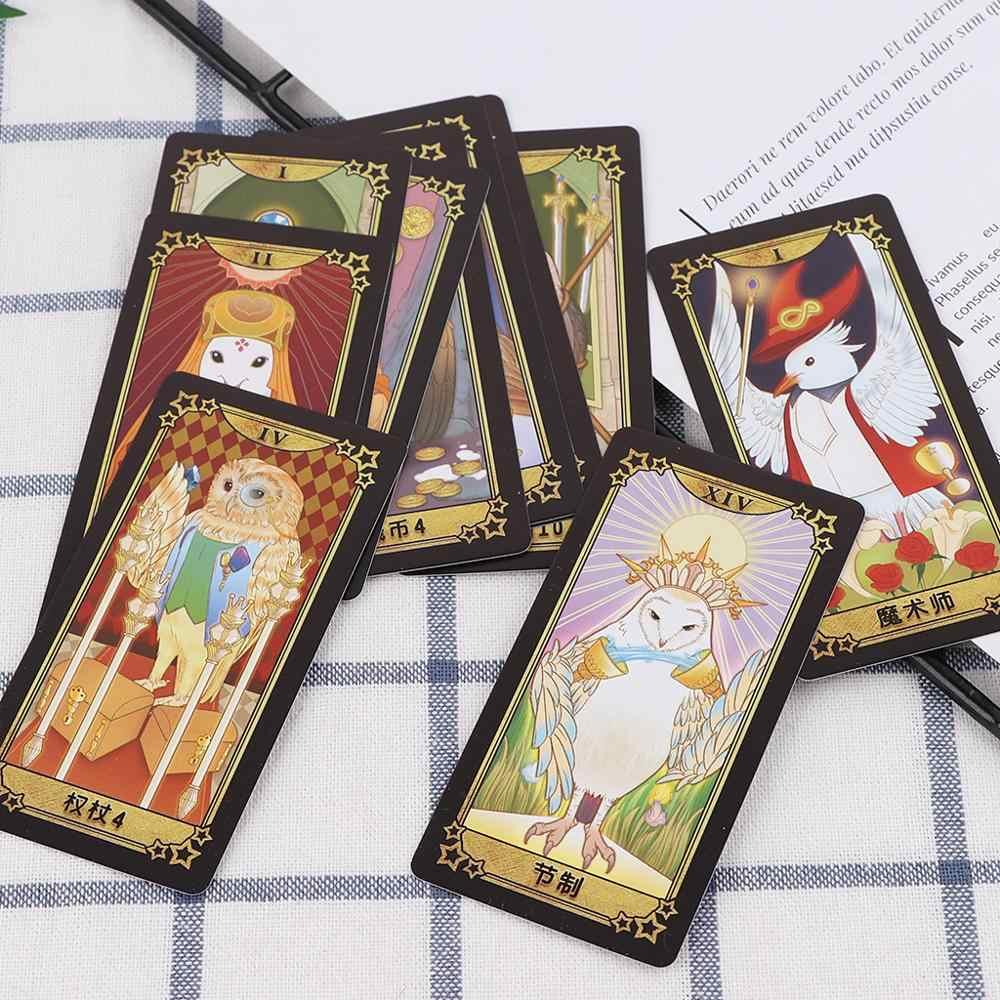 Estudante tarô cartões com caixa colorida misteriosa adivinhação astrologia jogo de tabuleiro