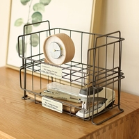 Wrought iron kitchen bathroom shelf desk desktop cosmetic finishing receive storage shelves can be superimposed
