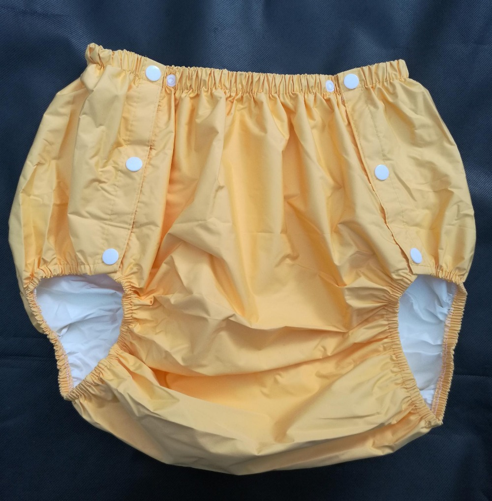 Free Shipping FUUBUU2204-YELLOW-L  part Safety trousers/ Physiological pants/Adult Diaper/incontinence pants /Pocket diapers