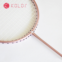 Kolor Full Carbon Badminton Racket  Attack-Resistant Ball-Control Type Carbon Fiber Single-racket Free Shipping