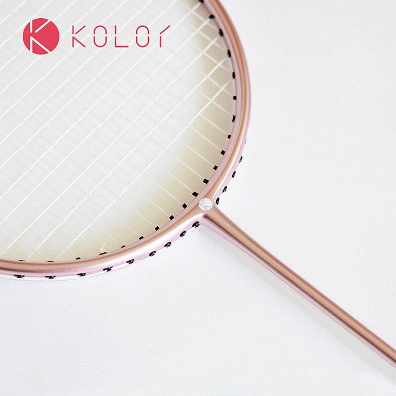 Kolor Plein Badminton De Carbone Raquette Attaque Résistant à l'usure Balle-Type De Contrôle En Fiber De Carbone Unique-raquette Livraison Gratuite