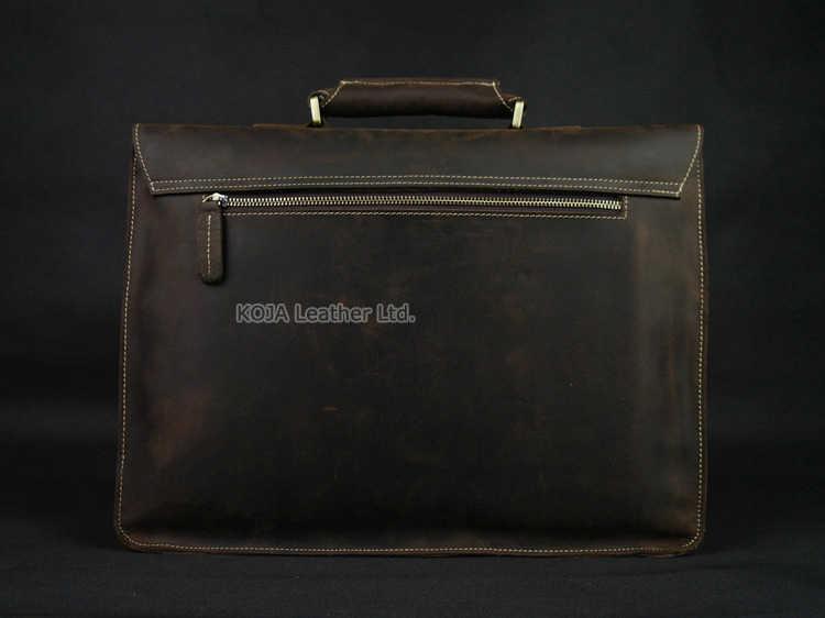 Vintage Da Ngựa Nam Cặp Xách Laptop Túi Làm Túi Xách Công Sở Da Thật Chính Hãng Da Cặp Xách Nam Đeo Vai Túi Đeo Ngang