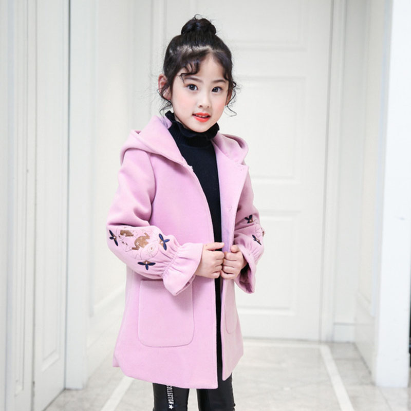 Children Clothing 2018 Autumn Winter Jacket For Girls Hooded Outerwear Coat Kids Warm Jackets For Girls Clothes 4 6 8 10 12 Year недорго, оригинальная цена