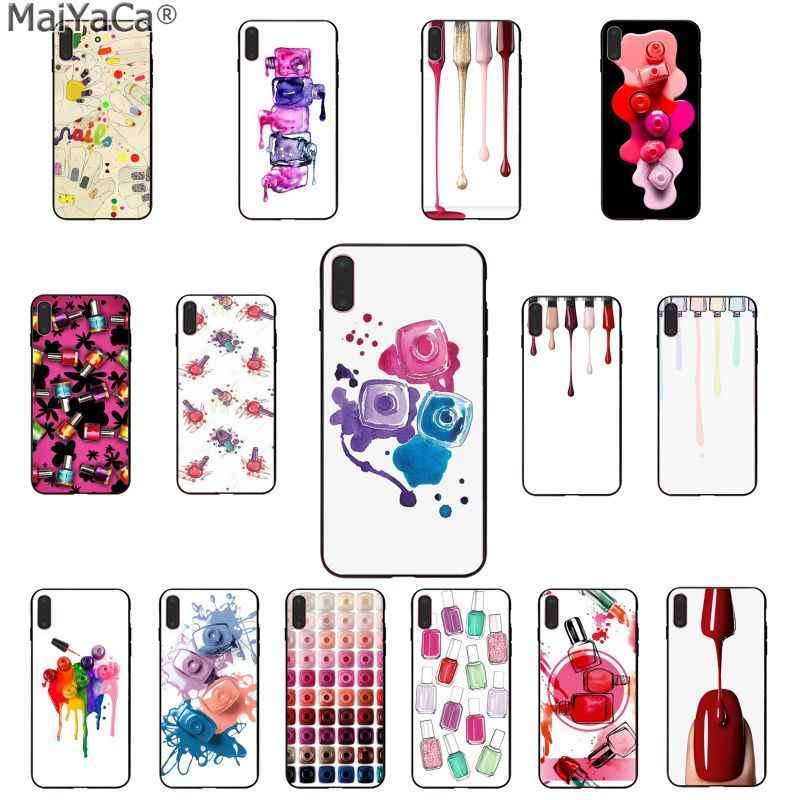 Maiyaca Seni Warna-warni Kuku Polandia Botol Set Smart Fundas Phone Case untuk Apple iPhone 11 Pro 8 7 66S PLUS X XS Max 5S SE XR