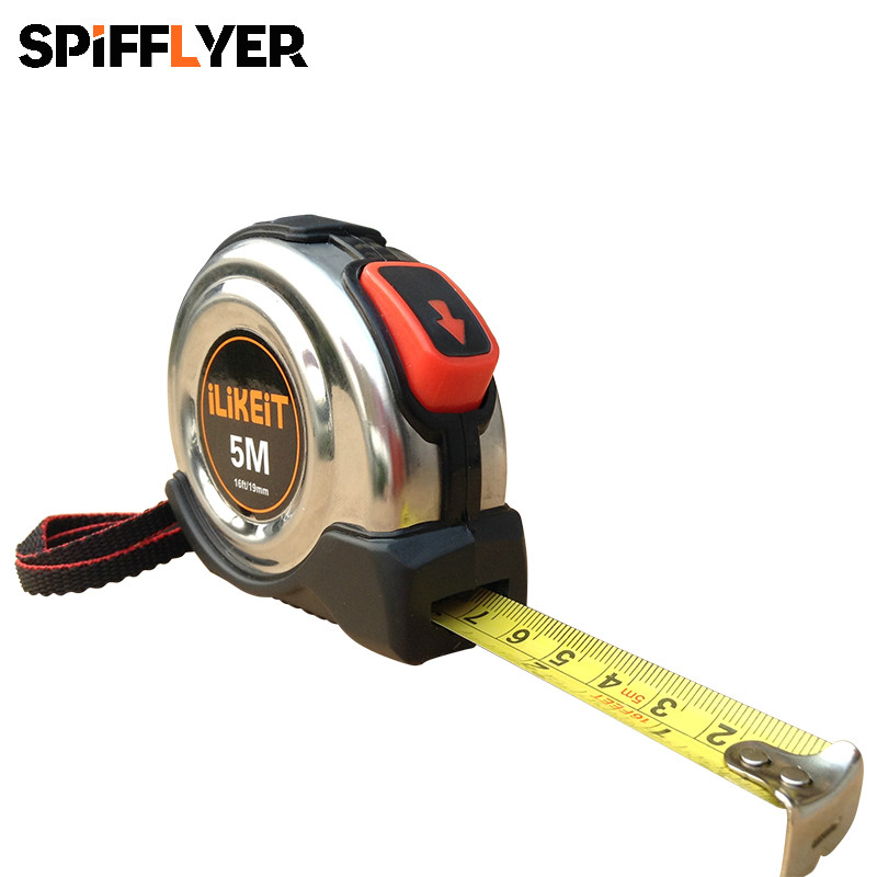 Stainless Steel Tape Measure Retractable Tape Metric Mini Measuring Tape Woodworking Measurement inches Ruler Tape Measures Tool