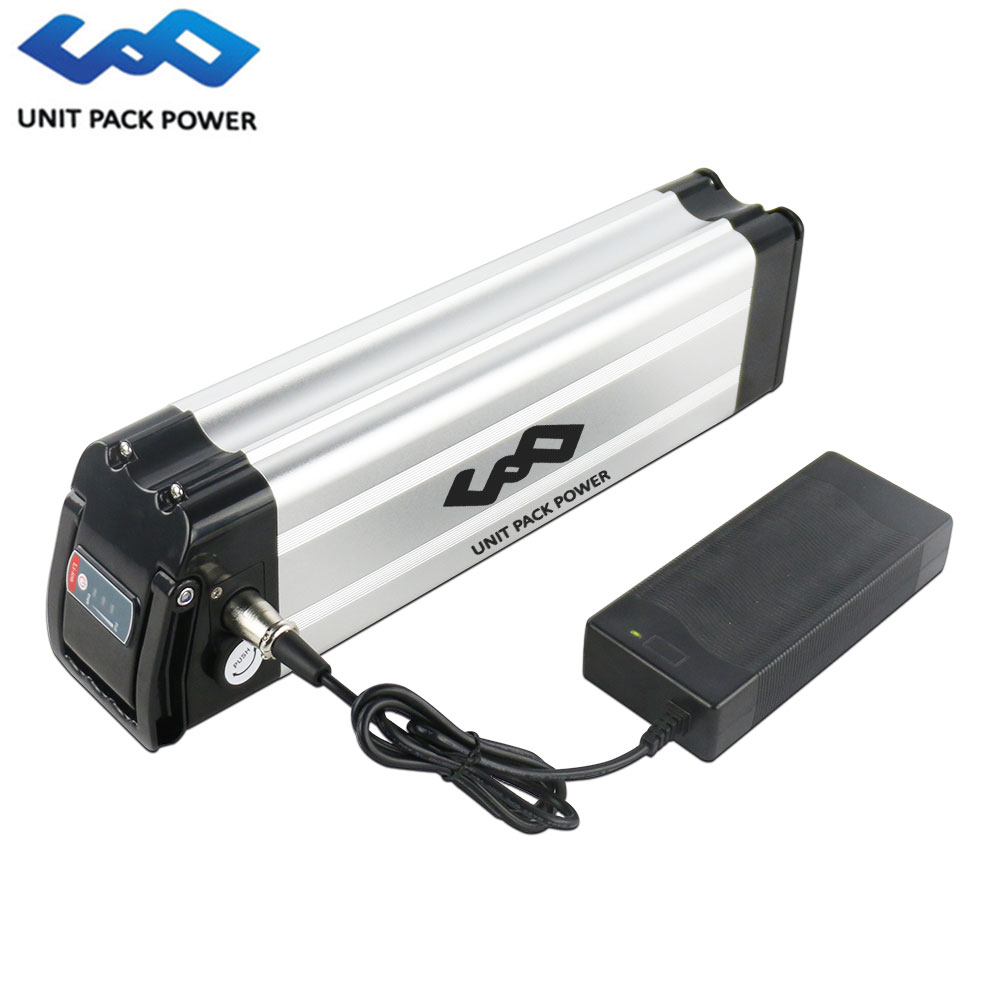 36 volts 500 w ebike batterie au lithium 36 v 10AH 12AH 15AH 18AH vélo électrique argent poisson batterie avec boîtier en aluminium