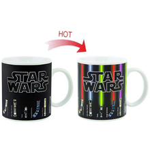Drop verschiffen Star Wars Lichtschwert Wärme Offenbaren Becher farbwechsel kaffeetasse empfindliche farbwechsel-verwandelnder becher