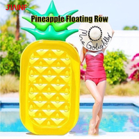 JIAINF Personal Air Mattresses Inflatable Pineapple Floating Rideable Swimming Pool Toy Float Raft for Diving Swimming For Adult