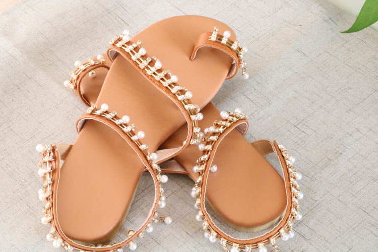 HTB1gA7QaInrK1RkHFrdq6xCoFXa2 Women sandals summer shoes flat pearl sandals comfortable string bead slippers women casual sandals size 34 43
